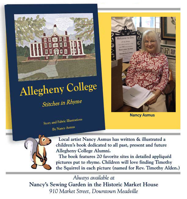Allegheny College Stitches in Rhyme with Nancy photo
