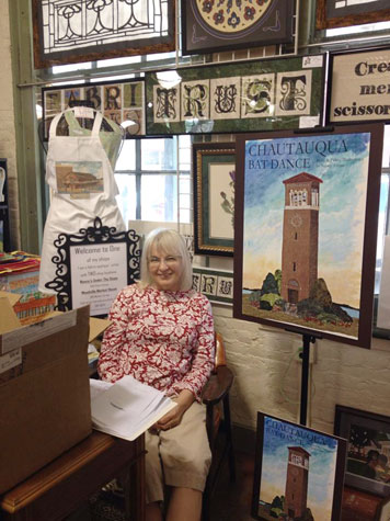 Nancy Asmus in her shop at Meadville Market House.