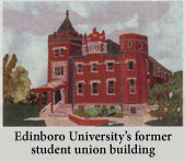 the Edinboro Univercity former student union building applique