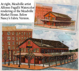 photo of meadville market house in meadville, pa - applique